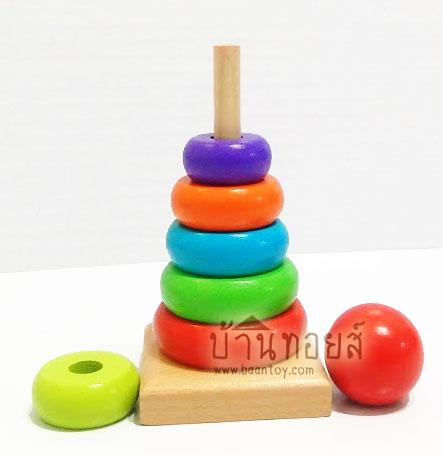 ของเล่นเสริมพัฒนาการของเล่นบล็อกไม้