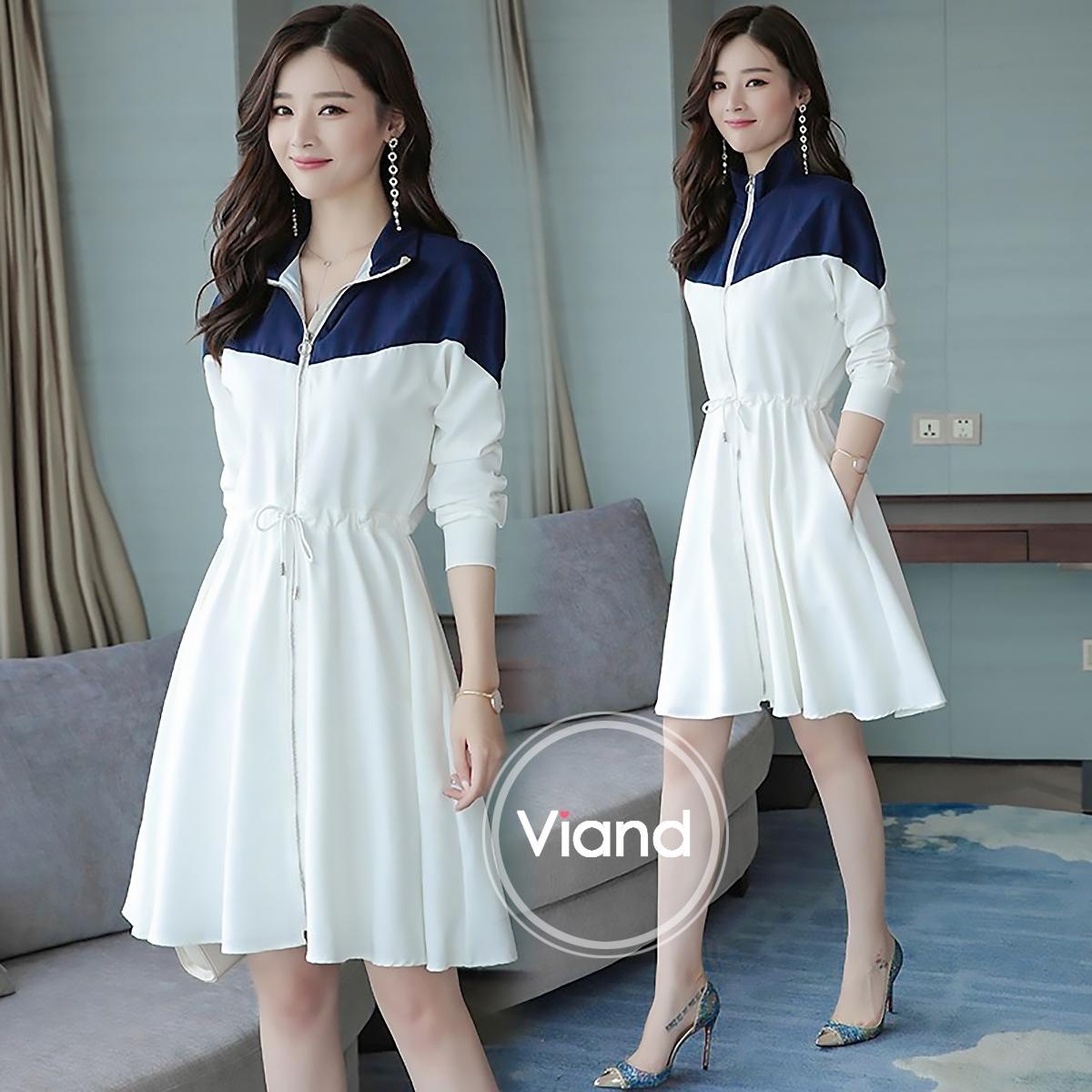 เดรสเกาหลี พร้อมส่ง เดรสทรงสวย ผ้าจอร์เจีย