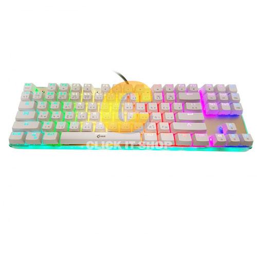 Keyboard OKER Mechanical Blue Switch (K88) White