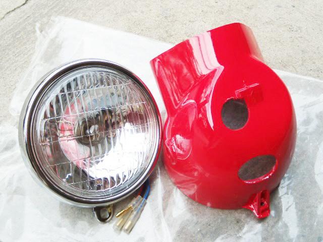 กระโหลก พร้อม ไฟหน้า Honda S90 Chaly CF50 CF70 สีแดง เทียม งานใหม่