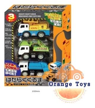 รถก่อสร้าง 3 ชิ้นกล่องญี่ปุ่น ชุด A