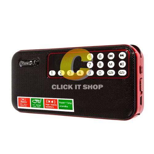 วิทยุ Music D.J. (M&J-158) Red