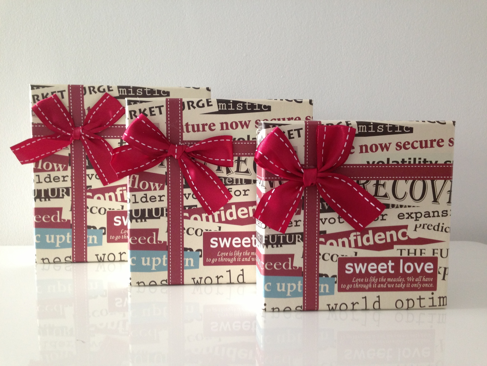 Gift Box Set 3 Pieces: Big Red Bow