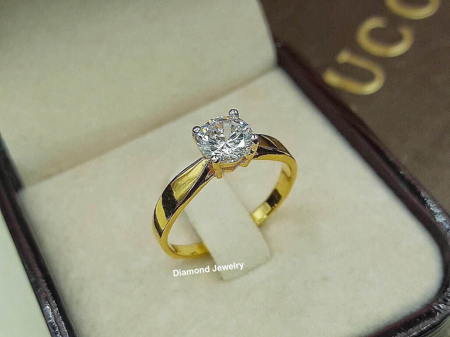 พร้อมส่ง แหวนเพชรทรงแหวนหมั้น