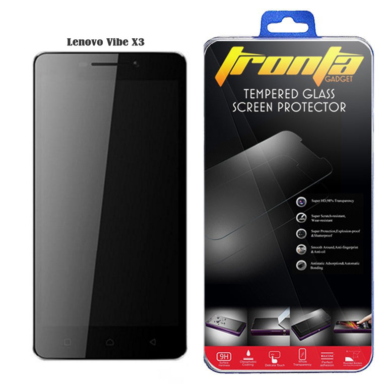Tronta ฟิล์มกันรอยมือถือ ฟิล์มกระจกนิรภัยกันกระแทก Lenovo Vibe X3