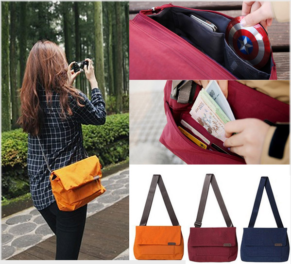 GB223 กระเป๋าสะพาย สายปรับขนาดได้ มีช่องใส่ของมากมาย เช่น มือถือ แท็บแลต Ipad กระเป๋าเงิน เครื่องเขียน ขนาด กว้าง 7 x ยาว 27 x สูง 18 cm.