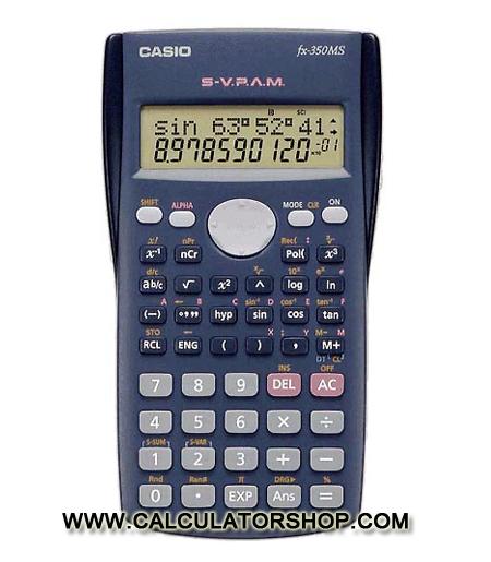 เครื่องคิดเลข คาสิโอ casio รุ่น FX-350MS
