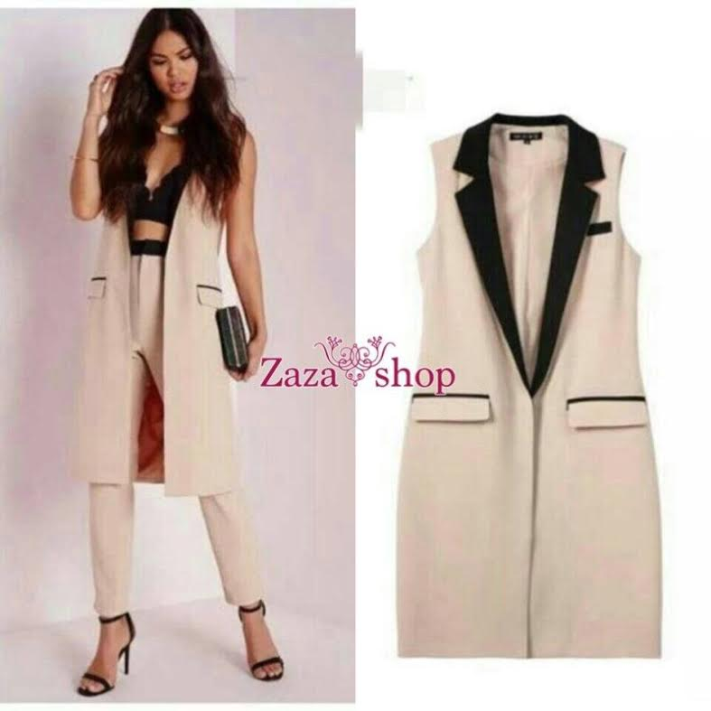 หมดค่ะ:Blazer Zara เสื้อคลุมแขนกุดตัวยาว เนื้อผ้าดีมีน้ำหนักทิ้งตัว คอปก สีดำ ใส่คลุมได้กับทุกชุด ทุกโอกาส มีกระเป๋าทั้งสองข้าง ไม่มีกระดุมค่ะ ใส่คลุมไปทำงานก็สวยจ้ะ