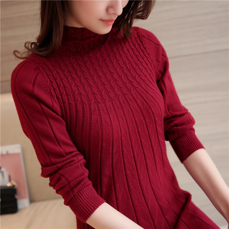 (พร้อมส่ง) เสื้อกันหนาวไหมพรม สีแดง คอปิด แต่งลายน่ารัก แขนยาว ตัวยาวคลุมสะโพก ใส่กันหนาวได้ค่ะ