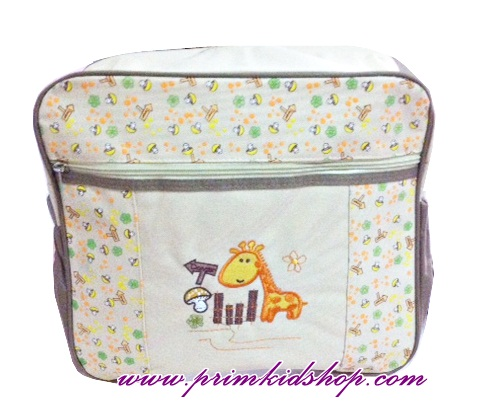 กระเป๋าคุณแม่ ใส่ของใช้เด็ก ไซส์ M + แผ่นรองเปลี่ยนผ้าอ้อม