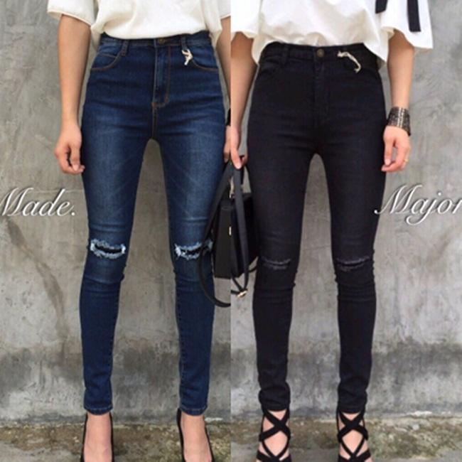 กางเกงแฟชั่น กางเกงยีนส์ยืดเป็นทรงสกินนี่เอวสูง ใส่สบายค่ะผ้านิ่มมาก