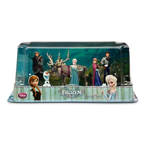 z Frozen Figure Play Set ประกอบด้วย Anna Elsa Hans Kristoff Sven และ Olaf from Disney Store USA ของแท้100% จากอเมริกา