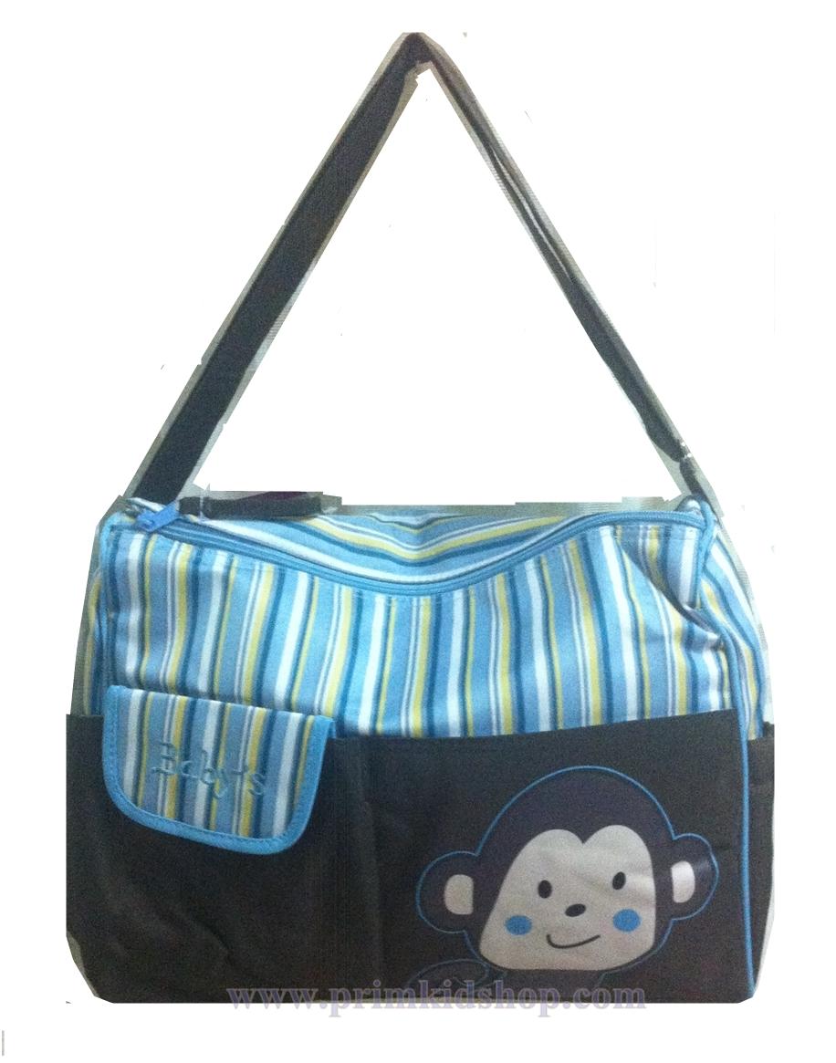 กระเป๋าสัมภาระคุณแม่ ลายลิง