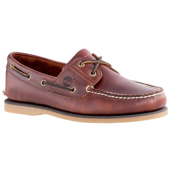 รองเท้าหนัง Men's Earthkeepers Timberland Classic 2 Eye Boat Shoe (Men's) - Rootbeer Smooth Size 40 - 45.5 พร้อมกล่อง