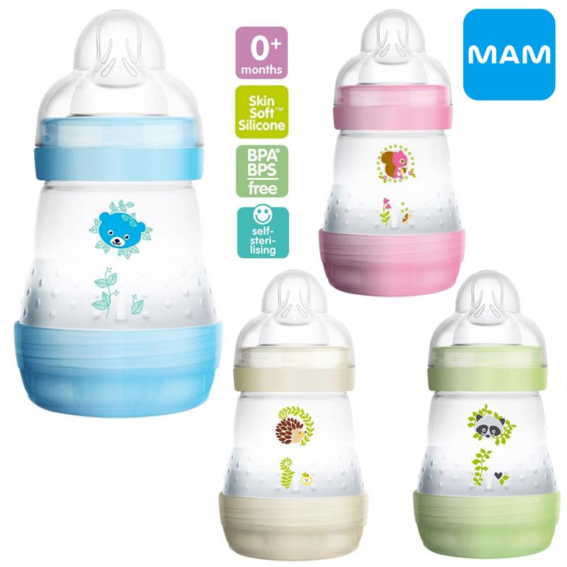 [5oz/160ml] ขวดนมป้องกันโคลิคพร้อมจุกนม Mam Easy Start Anti-Colic