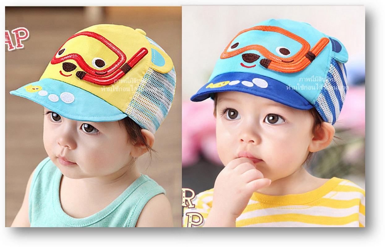 หมวกแก๊ปพี่หมีดำน้ำ
