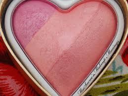 Makeup Revolution Blushing Hearts Triple Baked Blusher # โทนชมพูสดใส ไม่หวาน