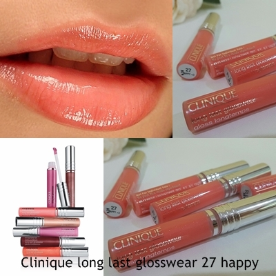 Clinique Long Lasting Glosswear Gloss Longtemps 2.3ml เบอร์ 27 Happy
