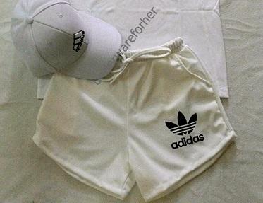 กางเกงขาสั้น สีขาว