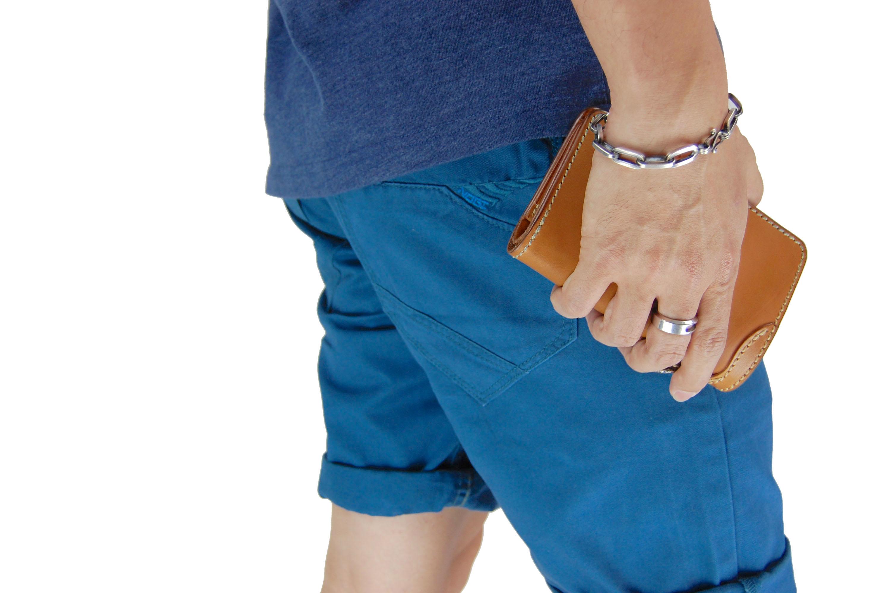 กางเกงขาสั้น สีฟ้าเข้ม NT28-3--6