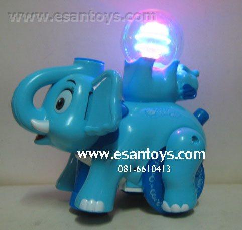 ช้างเป่าฟองไฟหมุน