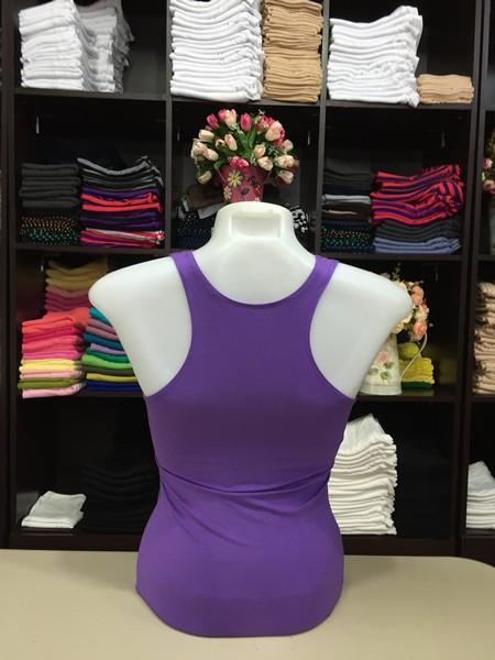 เสื้อกล้ามหลังสปอร์ต สีม่วง