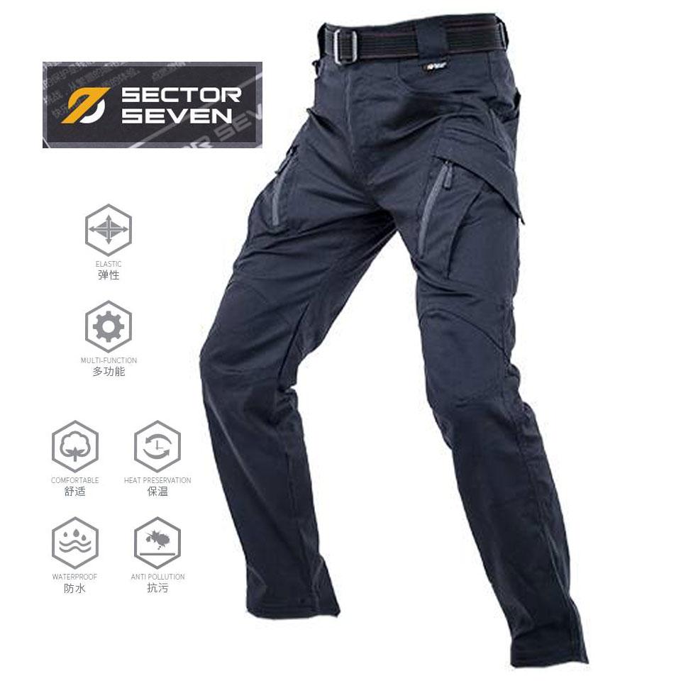 กางเกง Sector Seven IX9 ดำ ผ้าเรียบ กันน้ำ (ของแท้)