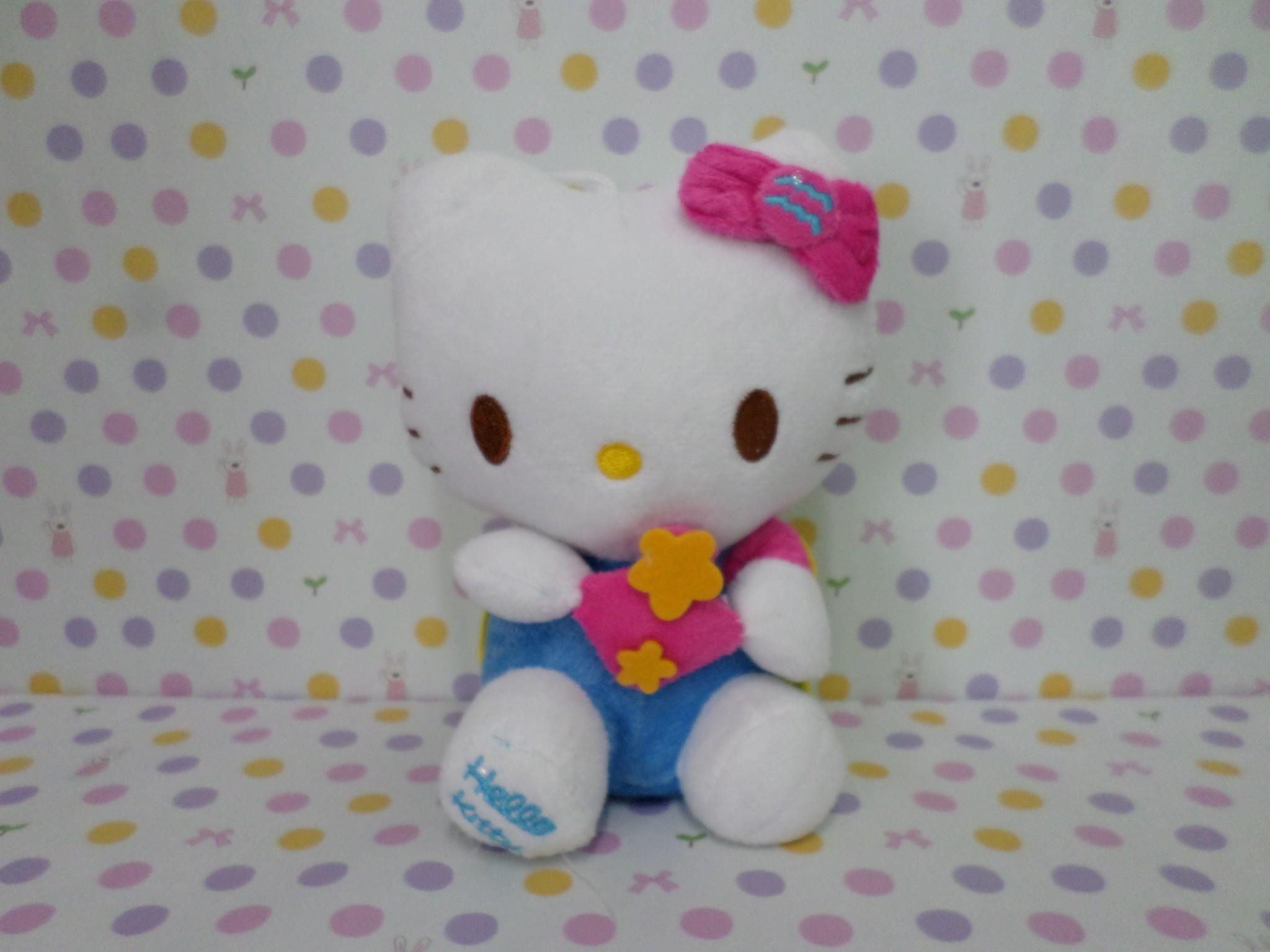 ตุ๊กตาฮัลโหลคิตตี้ Hello kitty#2 ขนาดสูง 7 นิ้ว มีจุ๊บติดกระจก