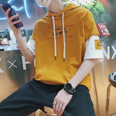 เสื้อฮู้ดแฟชั่นเกาหลี ดีไซน์เสื้อ2ชั้น สกรีนอักษร มี4สี