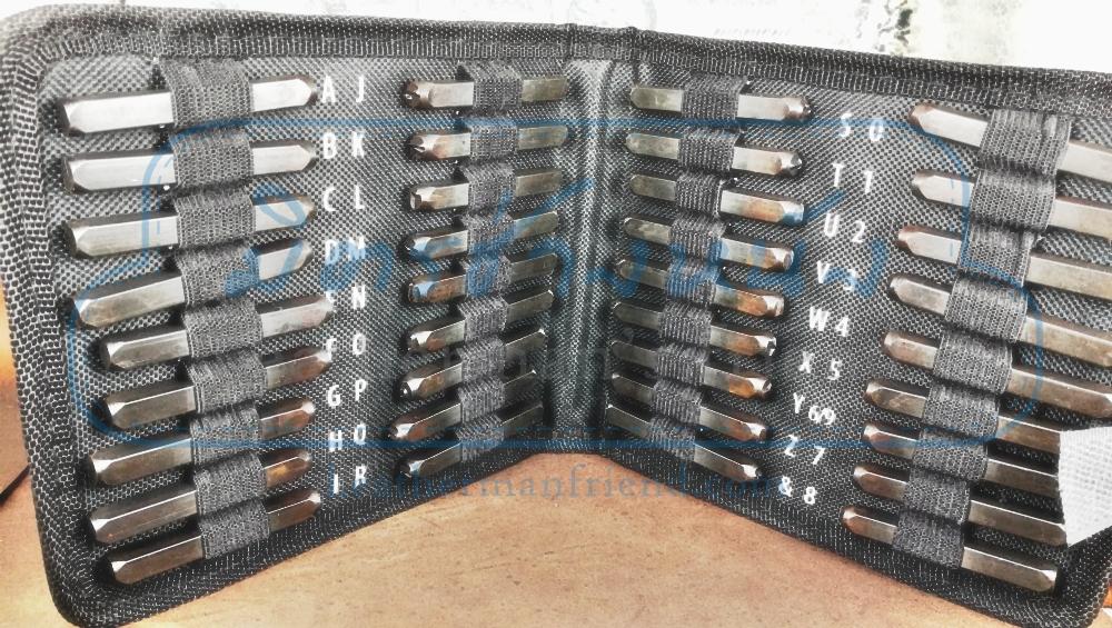 ชุดตอกอักษรงานหนัง Eng + ชุดตัวเลข พร้อมกระเป๋าอย่างดี ใส่สะดวกเก็บสบาย