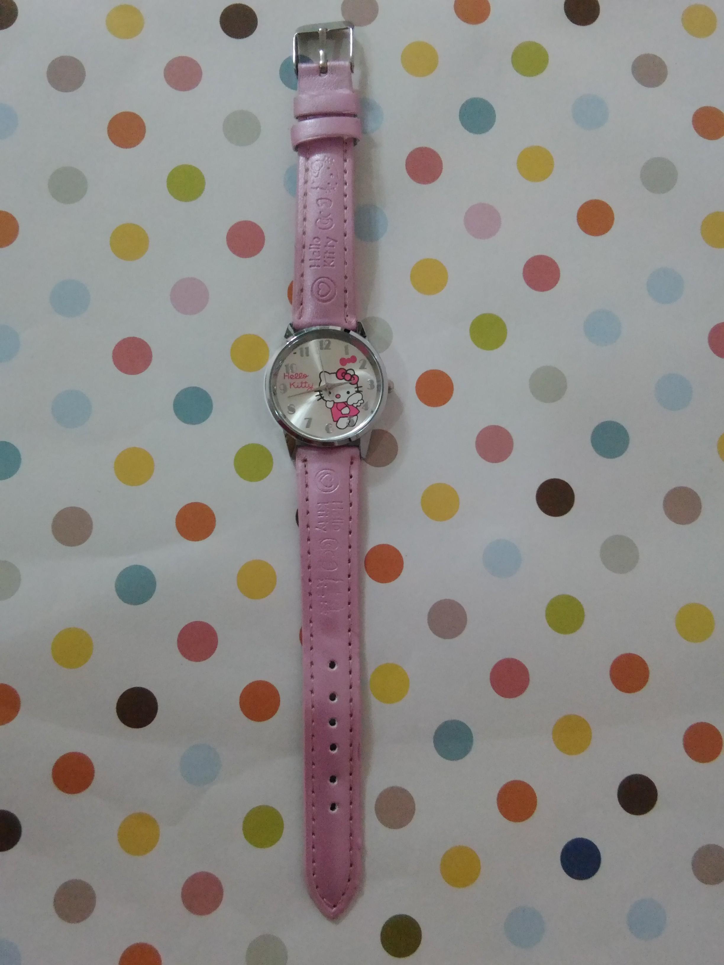 นาฬิกาข้อมือเด็ก ฮัลโหลคิตตี้ Hello kitty สีชมพู
