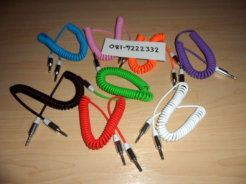 AUX Cable สายกันกระชาก ยืดหดได้