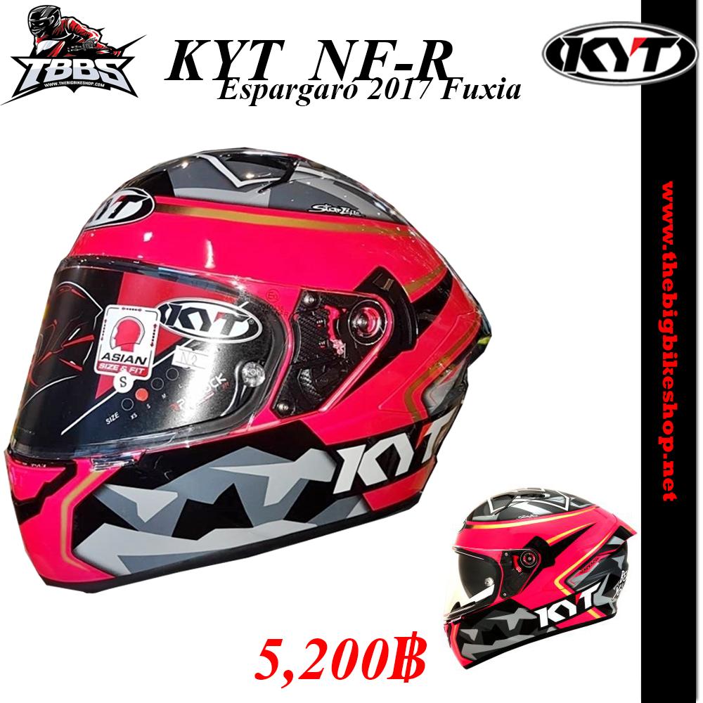 หมวกกันน็อคKYT รุ่น NF-R Espargaró 2017 Fuxia
