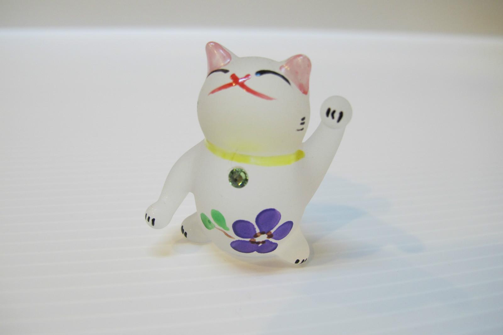 แมวแก้วเป่าพ่นทราย Glass figurine Cat