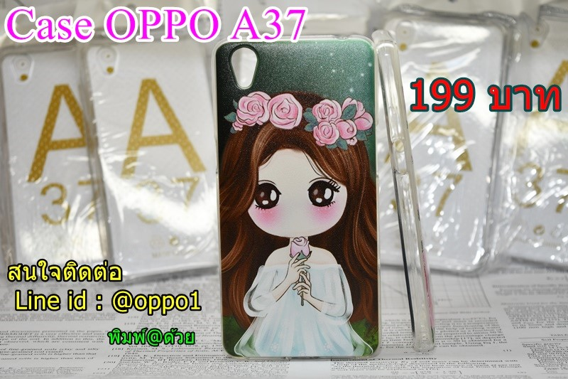 Case oppo A37 ผู้หญิงคาดผมกุหลาบ