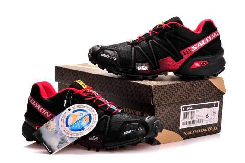 รองเท้า Salomon ดำ-แดง