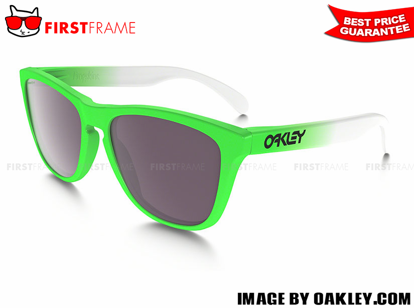 OAKLEY OO9245-37 FROGSKINS GREEN FADE EDITION (ASIA FIT)