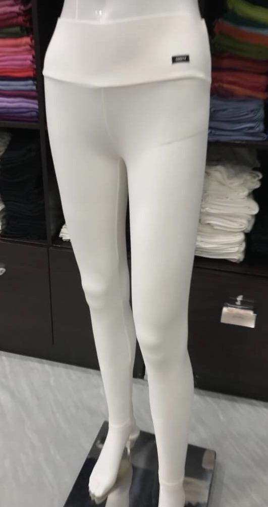 เลคกิ้ง กางเกงขายาว สีเทาออฟไวท์