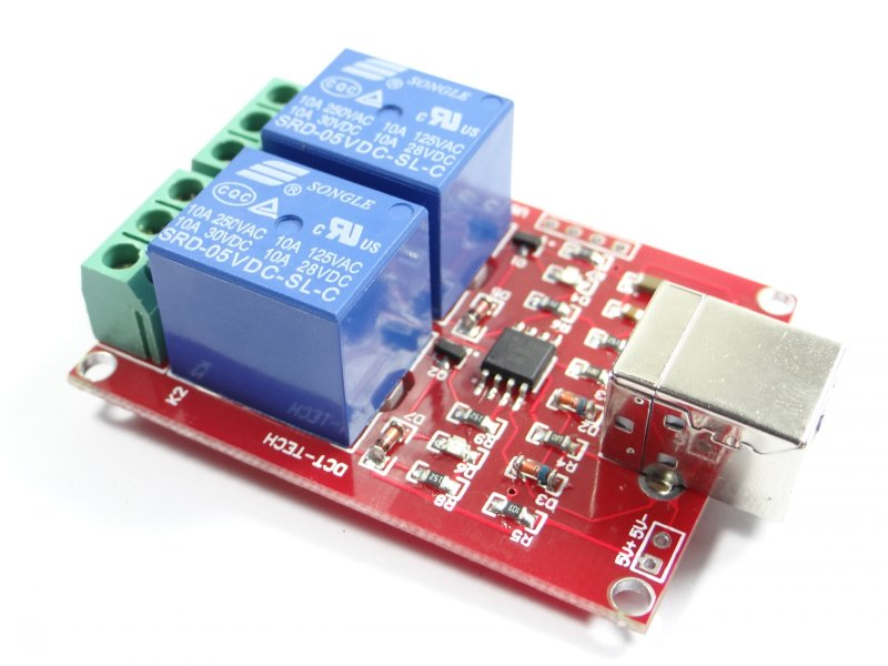 2-Channel 5V USB Relay Board Module Controller (USB Controlled Module)