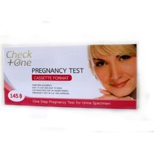 (แบบฉี่ผ่าน) Check One Pregnancy Test 1 กล่อง เชควัน ชุดทดสอบการตั้งครรภ์ แบบฉี่ผ่าน ด้วยความแม่นยำสูง 99.9%