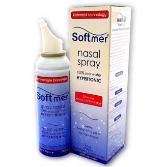 Softmer Spray Nasal สเปรย์น้ำทะเลล้างจมูก 100มล. สเปรย์น้ำทะเลสำหรับพ่นจมูก ล้างจมูกชนิดไฮเปอร์โทนิค ทำให้จมูกโล่ง ชะล้างสารคัดหลั่งในโพรงจมูก