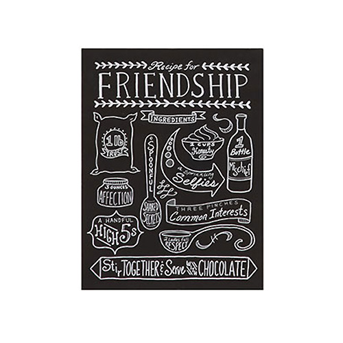 Tin Recipes For Love & Happiness Wall Décor, 4 Styles 'FRIENDSHIP'