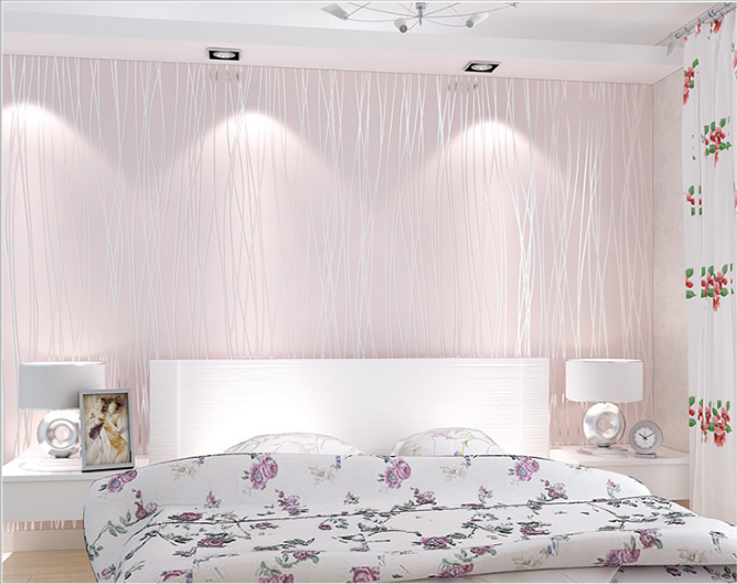 Wallpaper 3มิติ moon light Wall-WE01 สีชมพู