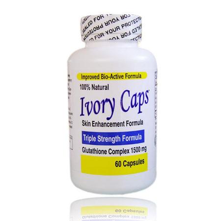 Ivory Caps Glutathion 1500 mg (ไอวอรี่ แคป) 60 capsule