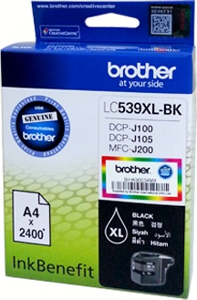 Brother LC-539XLBK ตลับหมึกอิงค์เจ็ท สีดำ Black Original Ink Cartridge