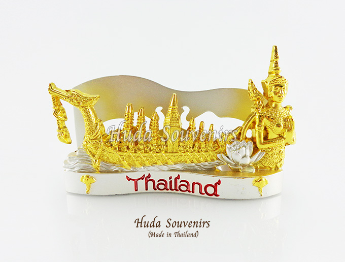 ของที่ระลึกไทย ที่ใส่นามบัตร ลวดลายเรือสุพรรณหงส์ สีเงินทอง ปั้มลายเนื้อนูน สินค้าบรรจุในกล่องมาให้เรียบร้อย สินค้าพร้อมส่ง