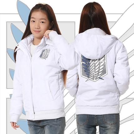 เสื้อแจ็คเก็ต Attack On Titan ผ่าพิภพไททัน(สีขาว)