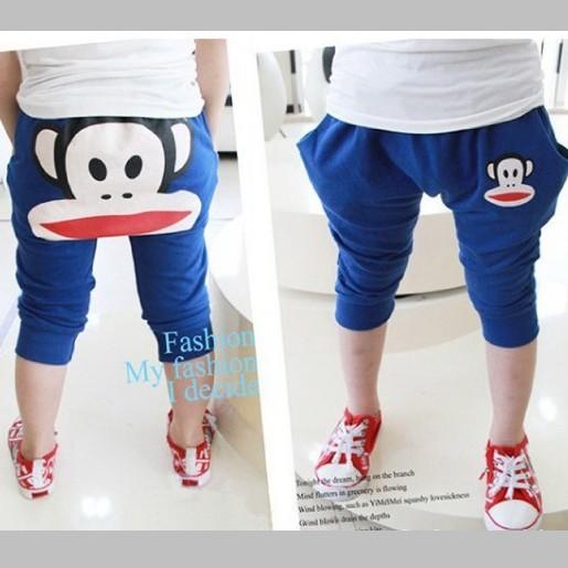กางเกงสี่ส่วน-สีฟ้า