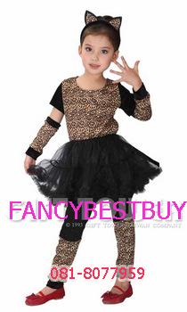 ชุดแฟนซีเสือดาว เป็นชุดแฟนซีสัตว์สำหรับเด็กหญิง สำหรับการแสดง ขนาด M, L, XL
