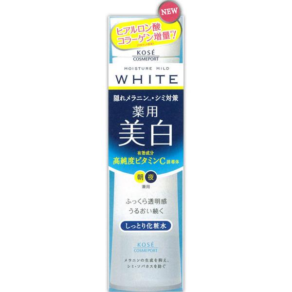 Kose MOISTURE MILD WHITE LOTION RICH โลชั่นเช็ดหน้าสูตรเพิ่มความชุ่มชื้นให้ผิวเหมาะกับผู้ที่มีผิวแห้งที่ต้องการความขาวกระจ่างใสบนผิวหน้า